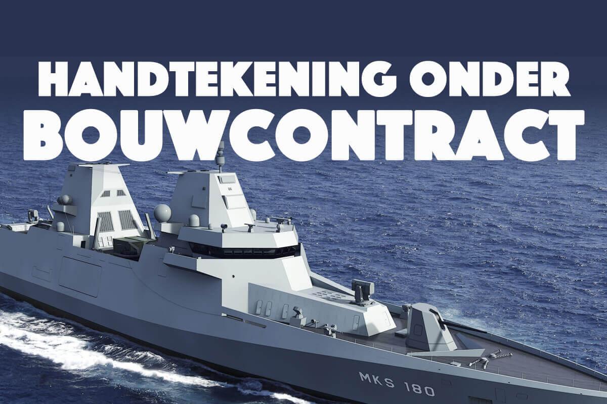 Handtekening onder bouwcontract Duitse fregatten