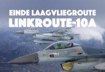 De laagvliegroute voor jachtvliegtuigen Linkroute-10A wordt definitief opgeheven.
