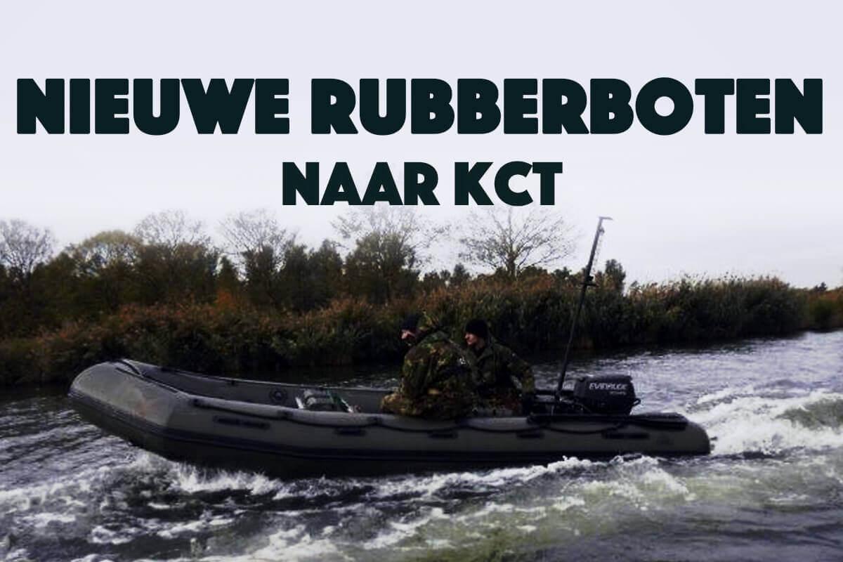 1e exemplaar nieuwe rubberboten naar KCT