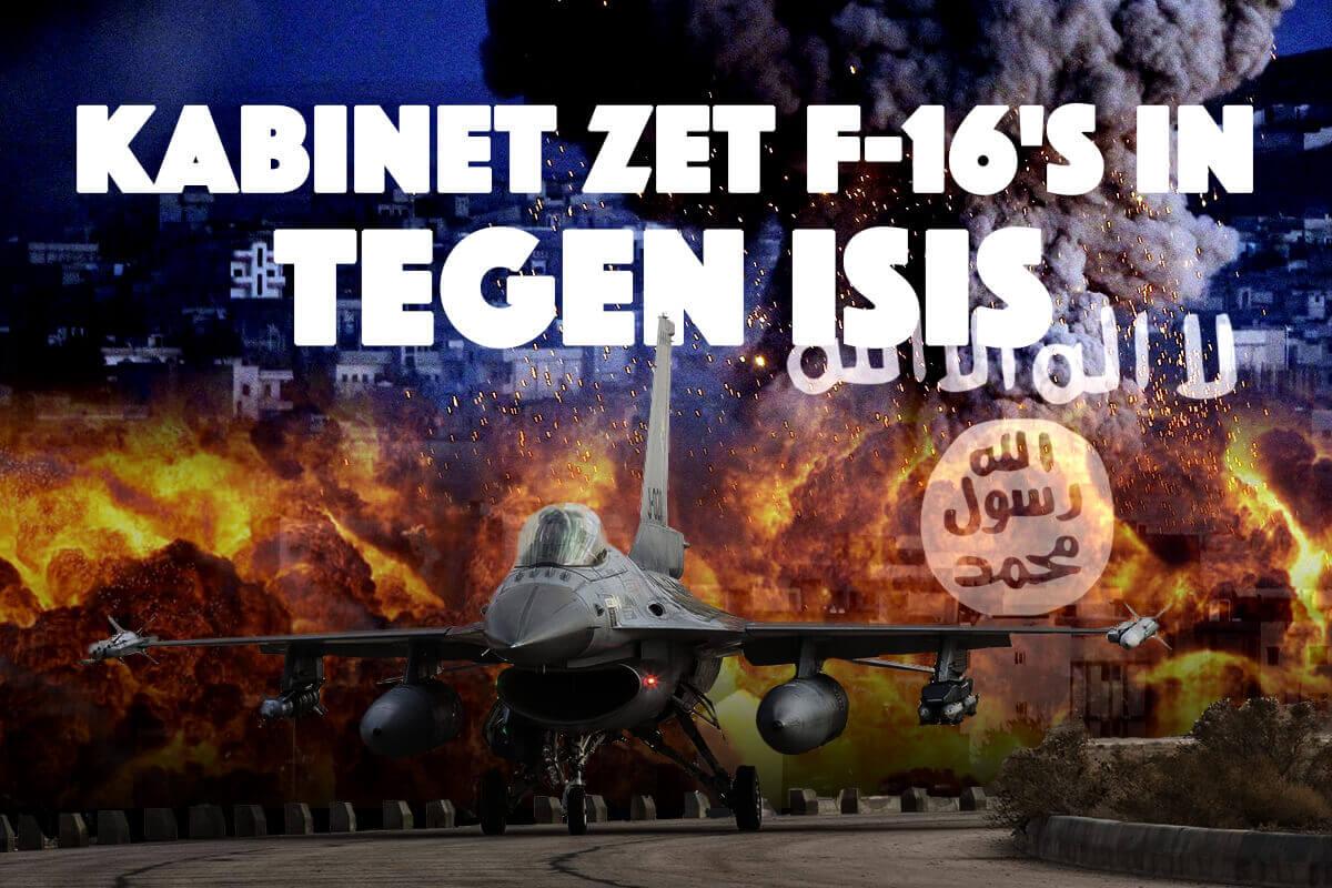 Kabinet stuurt opnieuw F16's vanuit Jordanië.