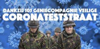 Dankzij 105 Geniecompagnie veilige coronateststraat in Gouda