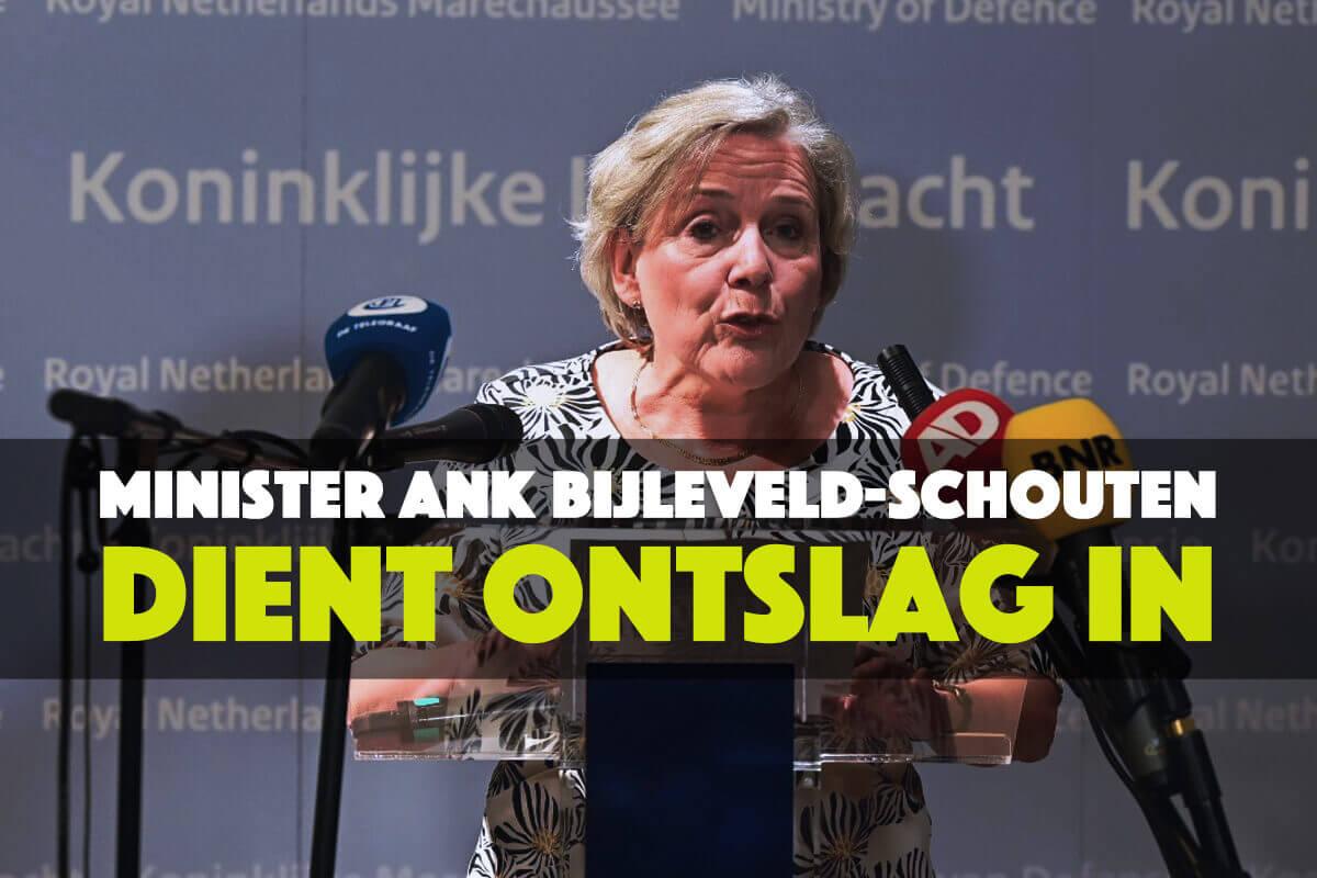 Minister Ank Bijleveld-Schouten (CDA) heeft 17 september 2021 haar ontslag ingediend bij de koning.