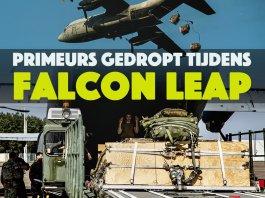 Luchtmobiel dropt meerdere primeurs tijdens Falcon Leap